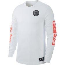 Nike T-Shirt Jordan x PSG - Hvid/Rød LIMITED EDITION