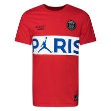 Nike T-Shirt Wordmark Jordan x PSG - Rød/Hvid LIMITED EDITION