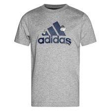 adidas Badge T-Shirt - Grå/Navy/Hvid Børn