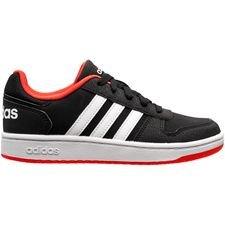 adidas Sneaker Hoops 2.0 - Sort/Hvid/Rød Børn