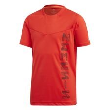 adidas Trænings T-Shirt Nemeziz - Rød/Sort Børn
