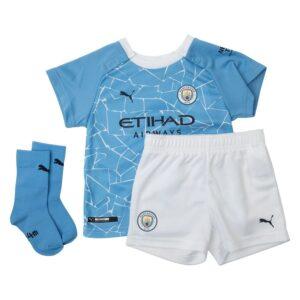 Manchester City Hjemmebanetrøje 2020/21 Baby-Kit Børn
