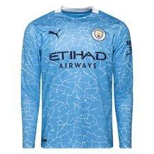 Manchester City Hjemmebanetrøje 2020/21 Lange Ærmer Børn