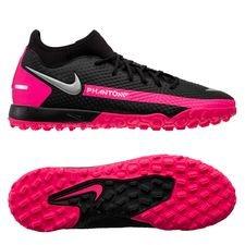 Nike Phantom GT Academy DF TF - Sort/Sølv/Pink
