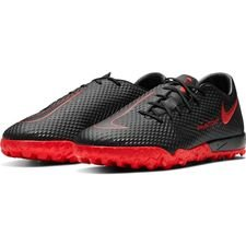 Nike Phantom GT Academy TF Black X Chile Red - Sort/Rød/Grå