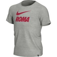 AS Roma T-Shirt Training Ground - Grå/Rød Børn