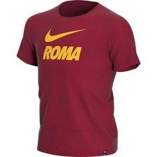 AS Roma T-Shirt Training Ground - Rød/Gul Børn