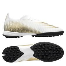 adidas X Ghosted .3 TF Inflight - Hvid/Guld/Sort
