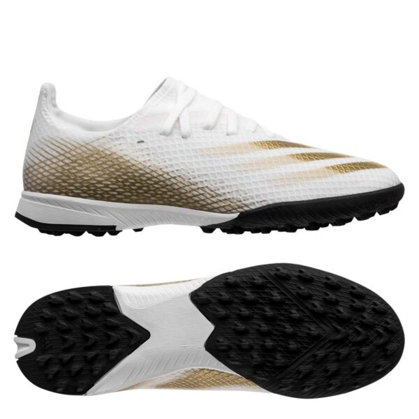 adidas X Ghosted .3 TF Inflight - Hvid/Guld/Sort Børn