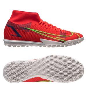 Nike Mercurial Superfly 8 Academy TF Spectrum - Rød/Sølv