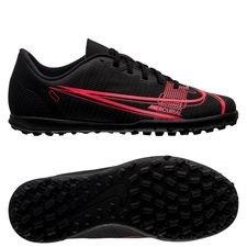 Nike Mercurial Vapor 14 Club TF Black x Prism - Sort/Gul/Rød Børn