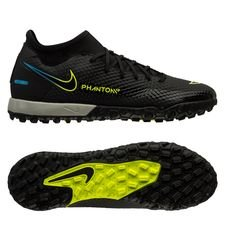 Nike Phantom GT Academy DF TF Black x Prism - Sort/Gul/Blå