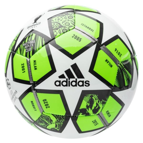 adidas Fodbold Champions League Finale 2021 Club - Grøn/Hvid/Sølv