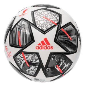 adidas Fodbold Champions League Finale 2021 Mini - Hvid/Sølv/Sølv FORUDBESTILLING